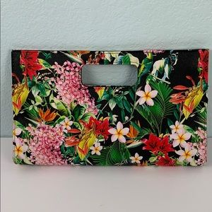 Tropical Floral Cutout Clutch Handbag 26PE